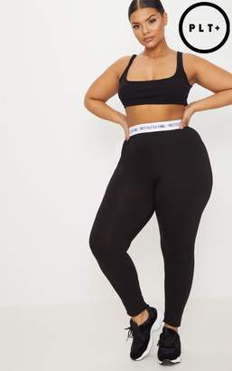 PrettyLittleThing Plus Black Leggings