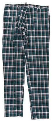 DSQUARED2 Plaid Flat Front Pants