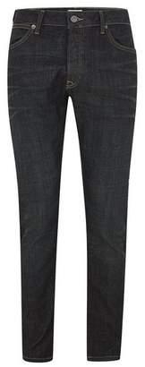 Topman Mens Blue Dark Wash Stretch Slim Jeans