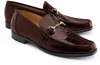 Brooks Brothers Genuine American Alligator Classic Bit Loafers