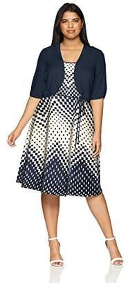 Sandra Darren Women's 2 PC Plus Size Elbow Sleeve Jacket Dress Set
