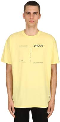 Raf Simons Drugs Printed Cotton Jersey T-Shirt