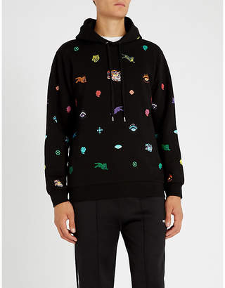 Kenzo Graphic-motif embroidered cotton-jersey hoody