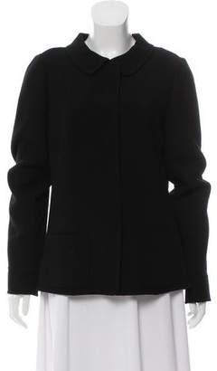 Oscar de la Renta Wool Zip-Up Blazer