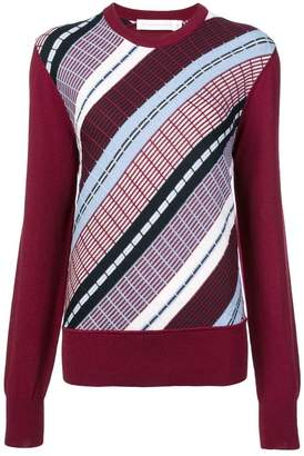 Victoria Beckham diagonal stripes knit sweater