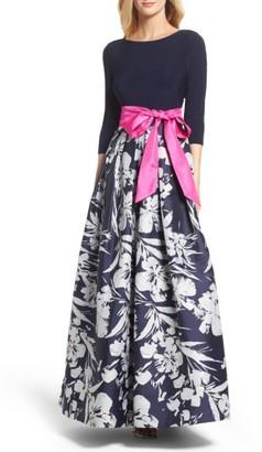 Women's Eliza J Floral Jacquard Gown $248 thestylecure.com