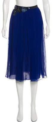 Matthew Williamson Silk Midi Skirt