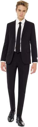 OppoSuits Black Knight Two-Piece Suit with Tie