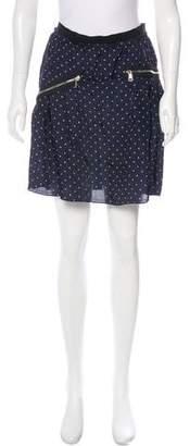Sonia Rykiel Sonia by Zip-Accented Polka Dot Skirt