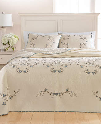Martha Stewart Collection Westminster Vines Cotton Twin Bedspread