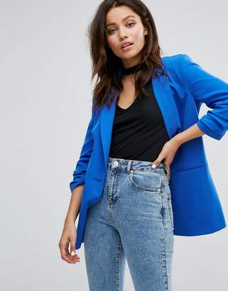 Miss Selfridge Ruched Sleeve Blazer