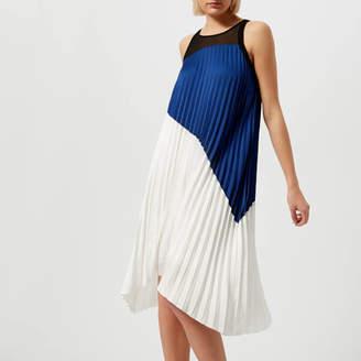Karl Lagerfeld Women's Colour Block Pleated Dress
