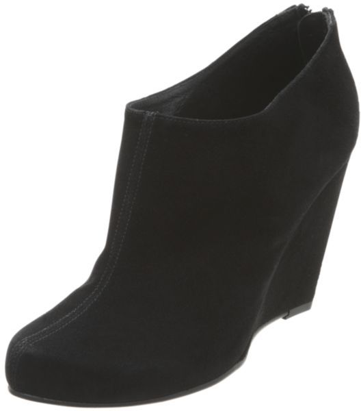 Dune Ozzy Dressy Suede Ankle Boots, Black