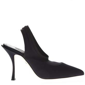Dolce & Gabbana Lori Black Stretch Jersey Sling Back
