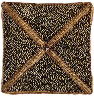 "Sweet Dreams Exotica Animal-Patterned Velvet Box Pillow, 14""Sq."