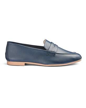 50faeeea096 Navy Leather Loafers Women - ShopStyle UK