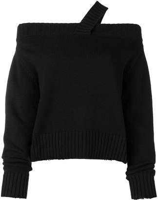 RtA off shoulder knitted jumper