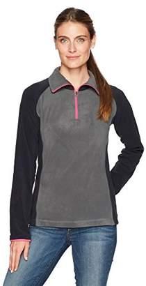 Columbia Women's Tested Tough in Pink Fleece Quarter-Zip Pullover