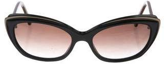 Cat Eye Face à Face Brune Cat-Eye Sunglasses