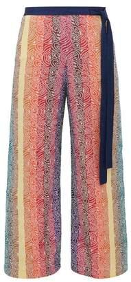 Mary Katrantzou Rigo Jacquard Knit Trousers - Womens - Pink Multi
