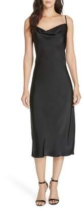 Joie Marcenna Cowl Neck Satin Midi Dress