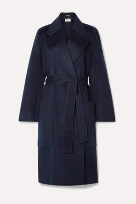 Acne Studios Carice Belted Double-breasted Wool Coat - Midnight blue