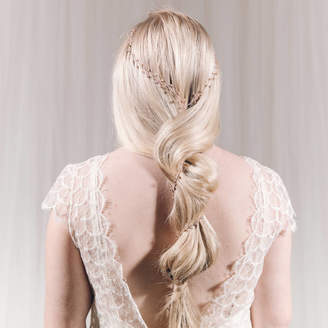 Carlisle Debbie Long Crystal Bridal Plait 'Y' Hair Vine Amy