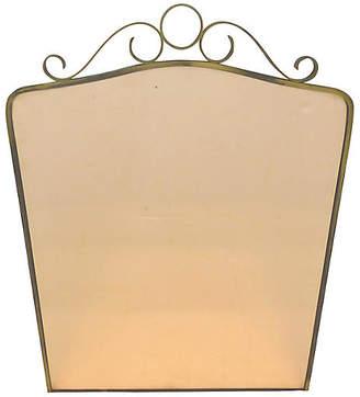 One Kings Lane Vintage Brass Peach Wall Mirror