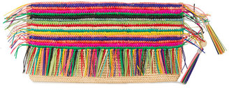 Sensi Studio rainbow tassel clutch bag