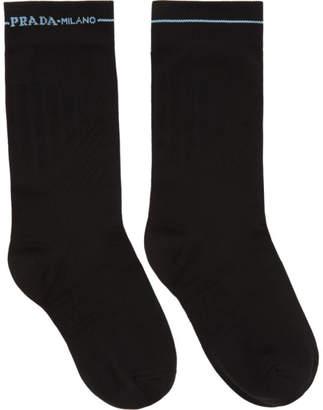 Prada Black Line Band Short Socks