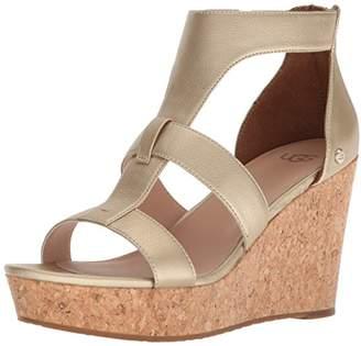 UGG Women's Whitney Metallic Wedge Sandal