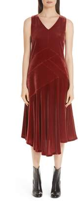 Lafayette 148 New York Ashlena Asymmetrical Velvet Dress