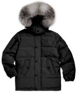 Moose Knuckles Little Kid's& Kid's Fox Fur Trim Parka