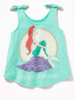 "Old Navy Disney© Little Mermaid ""Never Stop Dreaming"" Tie-Shoulder Tank for Toddler Girls"