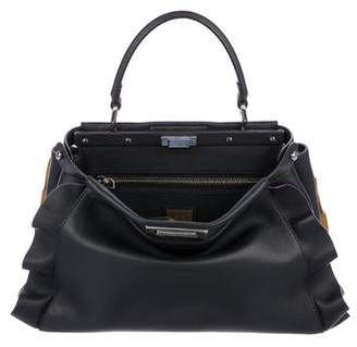 Fendi Ruffle-Trimmed Medium Peekaboo Tote