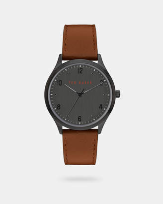 Ted Baker MANHAAF Pebble grain leather strap watch