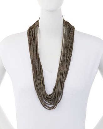 Eileen Fisher Sparkle Knit Scarf Necklace $98 thestylecure.com