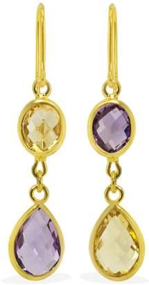 Vintouch Italy - Capri Multicolour Gold Earrings