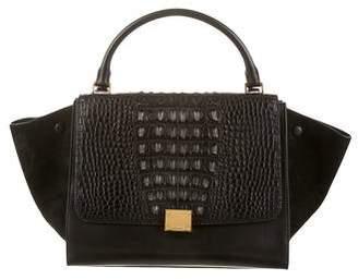 Celine Crocodile Trapeze Bag