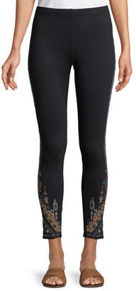 Johnny Was Nala Leggings with Embroidery