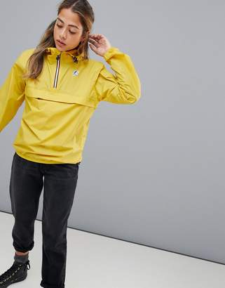K-Way K Way Le Vrai 3.0 Leon pullover waterproof jacket in yellow