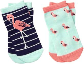 Crazy 8 Crazy8 Flamingo Ankle Socks 2-Pack