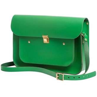 N'Damus London - Emerald Green Leather 13 inches Pocket Satchel