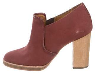 Isabel Marant Canvas Round-Toe Ankle Boots