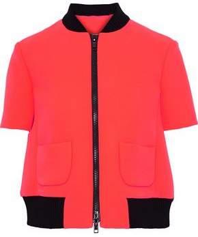 Redvalentino Ribbed Knit-Trimmed Neoprene Jacket