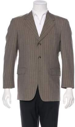 Burberry Wool Pinstripe Blazer