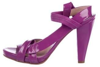 Chloé Patent Leather Strap Sandals