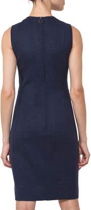 Akris Sleeveless Reversible Bicolor Wool Dress