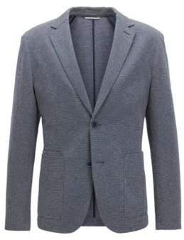 BOSS Hugo Cotton Linen Sport Coat, Slim Fit Neldon J 38R Dark Blue