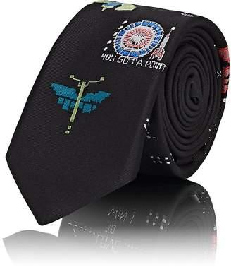 Valentino Men's Video-Games-Print Silk Twill Necktie